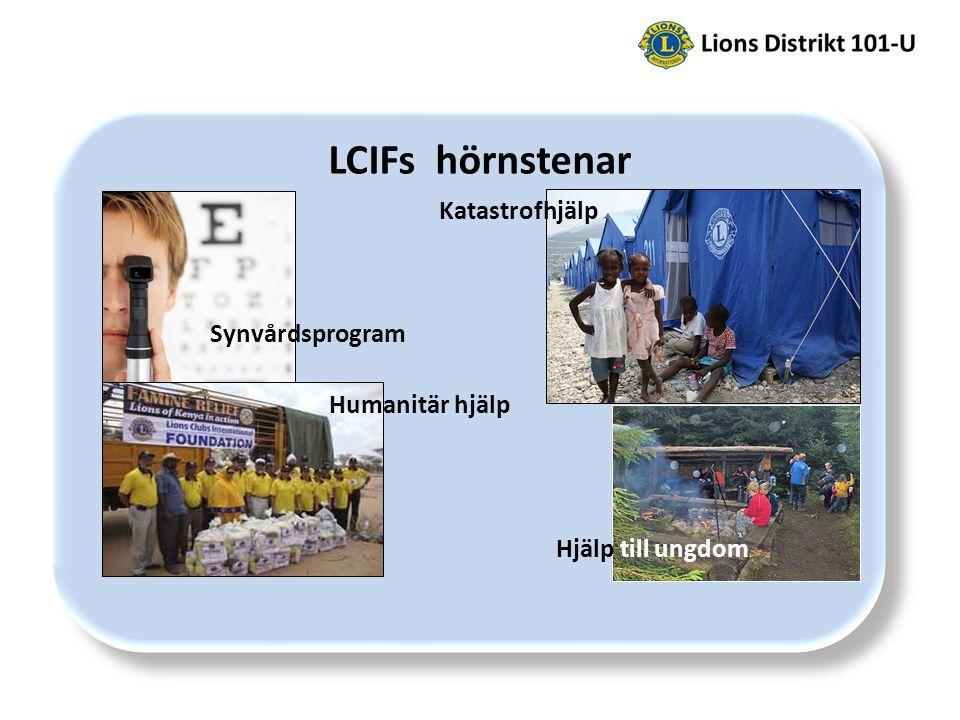 LCIFs hörnstenar Synvårdsprogram Katastrofhjälp Hjälp till ungdom Humanitär hjälp