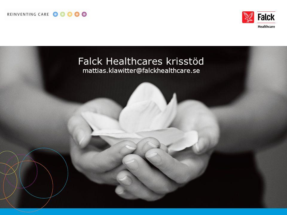Falck Healthcares krisstöd mattias.klawitter@falckhealthcare.se