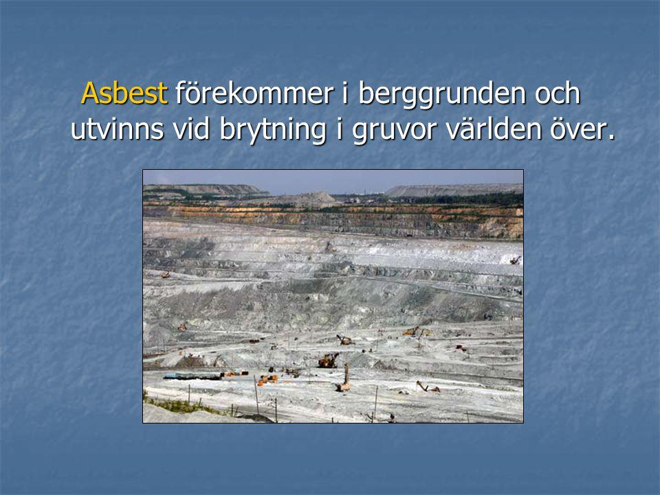 För att undersöka om asbest förekommer i ett materialprov använder man ljusmikroskopi.