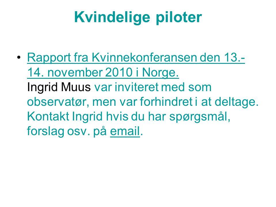 Kvindelige piloter Rapport fra Kvinnekonferansen den 13.- 14.