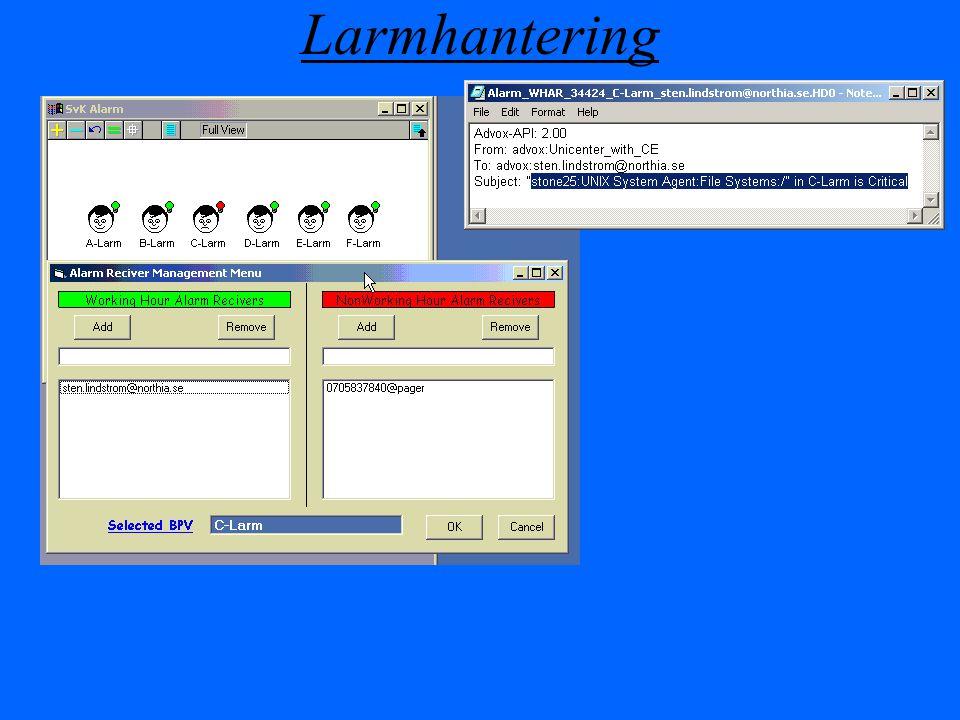 Larmhantering