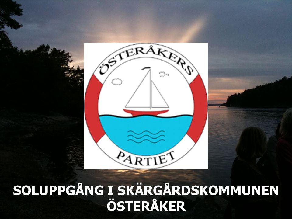 SOLUPPGÅNG I SKÄRGÅRDSKOMMUNEN ÖSTERÅKER