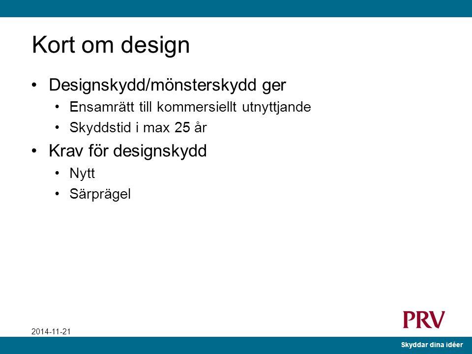 Skyddar dina idéer 2014-11-21 Design Går du mest på utseendet?