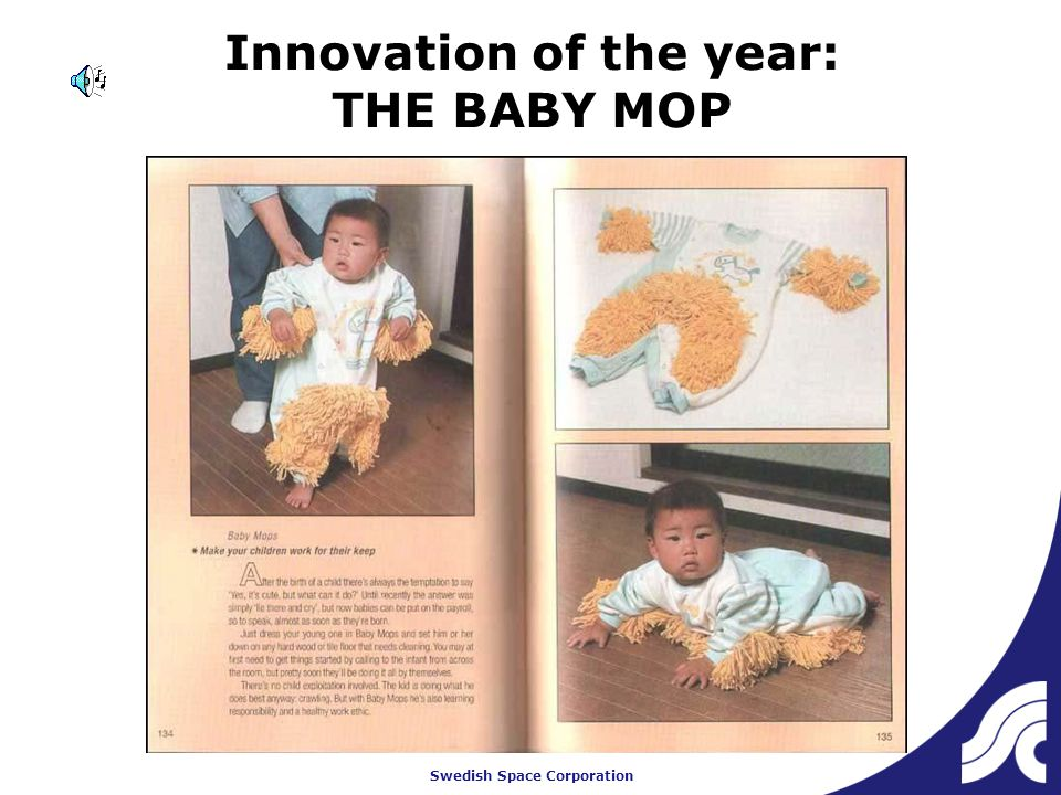 Swedish Space Corporation Innovation of the year: THE BABY MOP