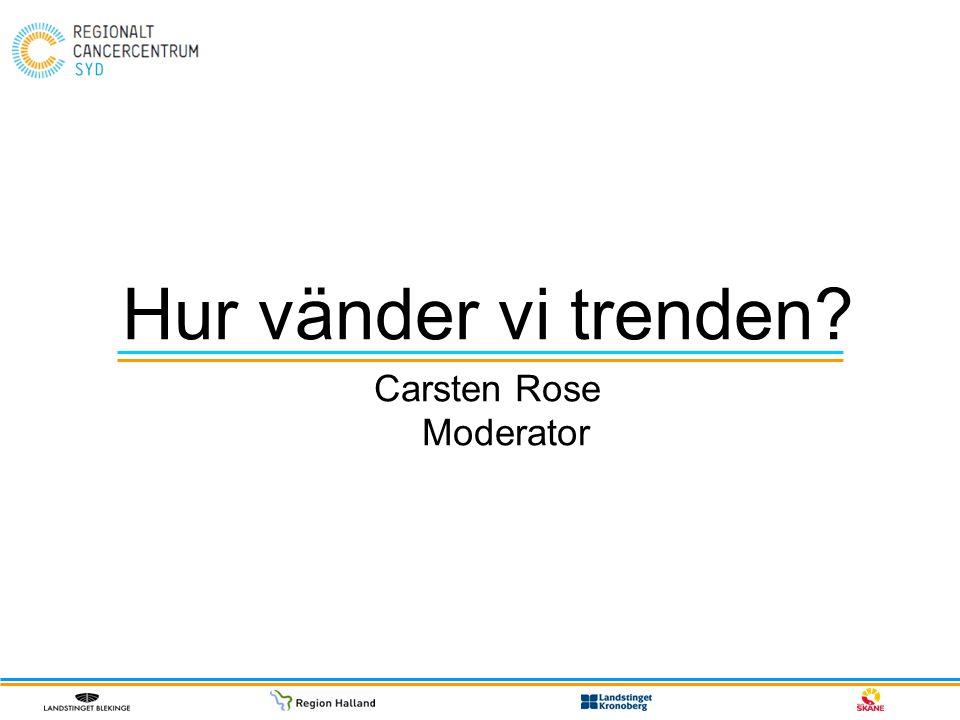 Hur vänder vi trenden? Carsten Rose Moderator