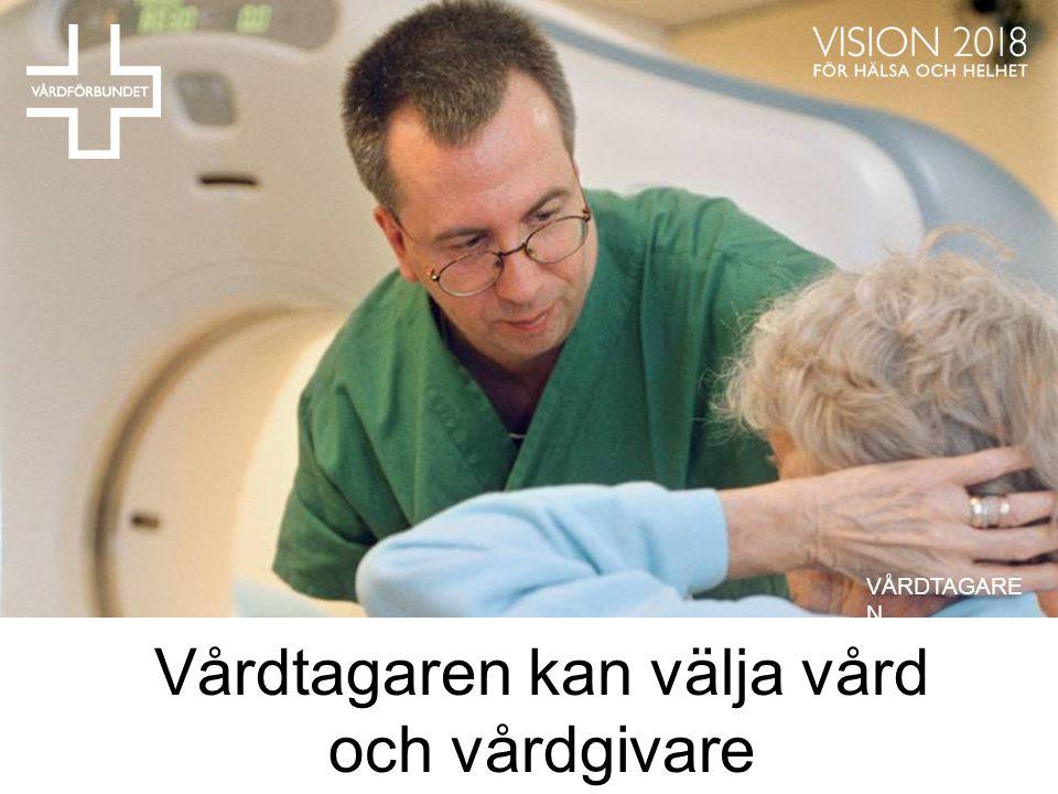 Vårdtagaren kan välja vård och vårdgivare VÅRDTAGARE N