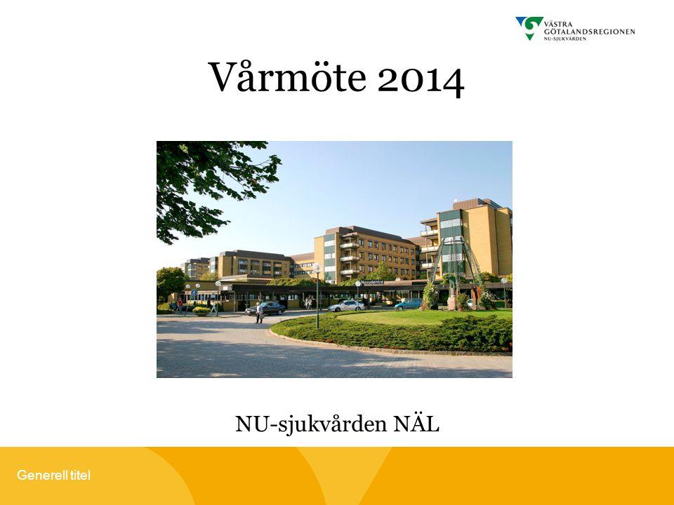Generell titel Vårmöte 2014 NU-sjukvården NÄL