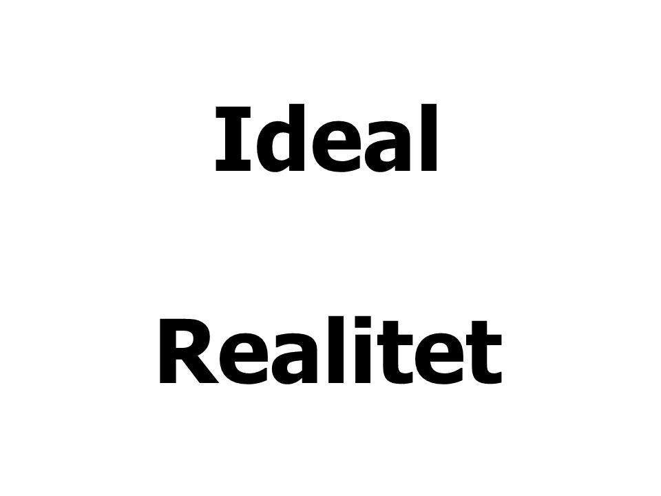Ideal Realitet