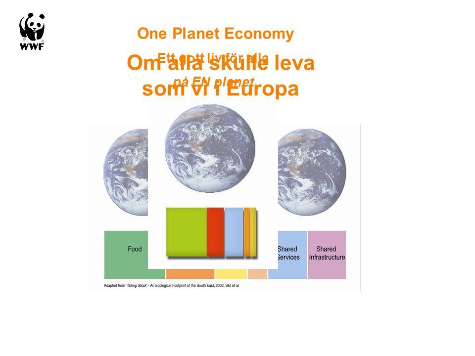 Om alla skulle leva som vi i Europa One Planet Economy Ett gott liv för alla på EN planet