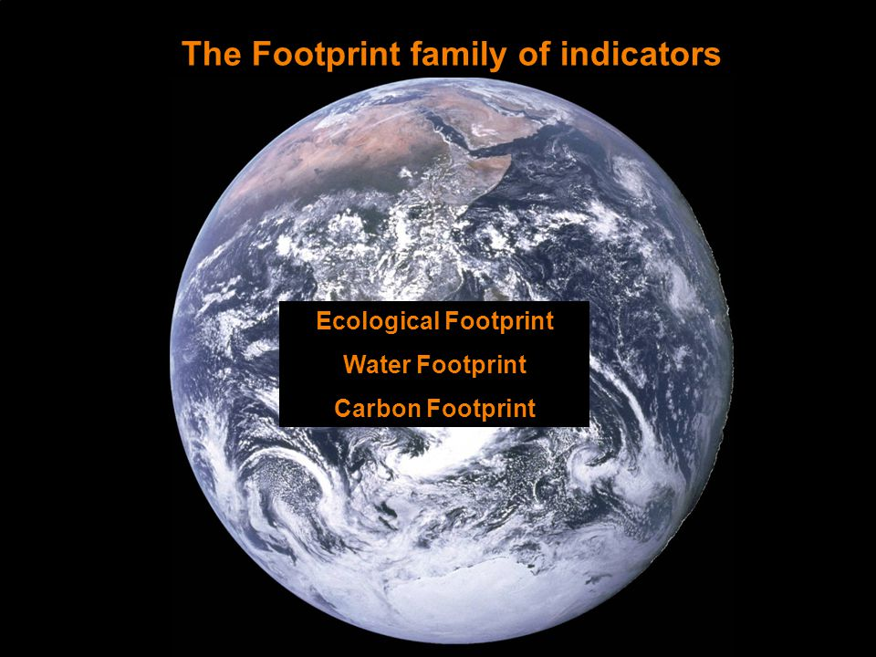 Ecological Footprint Water Footprint Carbon Footprint The Footprint family of indicators