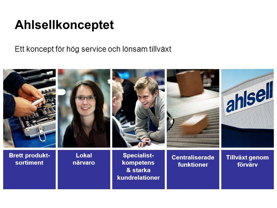 5 Ahlsellkonceptet Ett koncept för hög service och lönsam tillväxt Brett produkt- sortiment Lokal närvaro Centraliserade funktioner Tillväxt genom förvärv Specialist- kompetens & starka kundrelationer