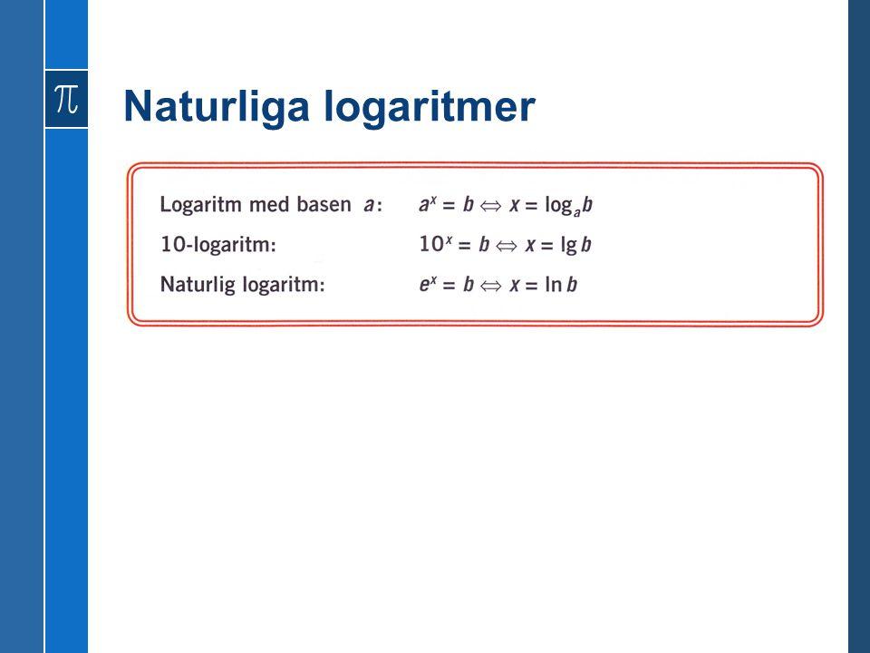 Naturliga logaritmer