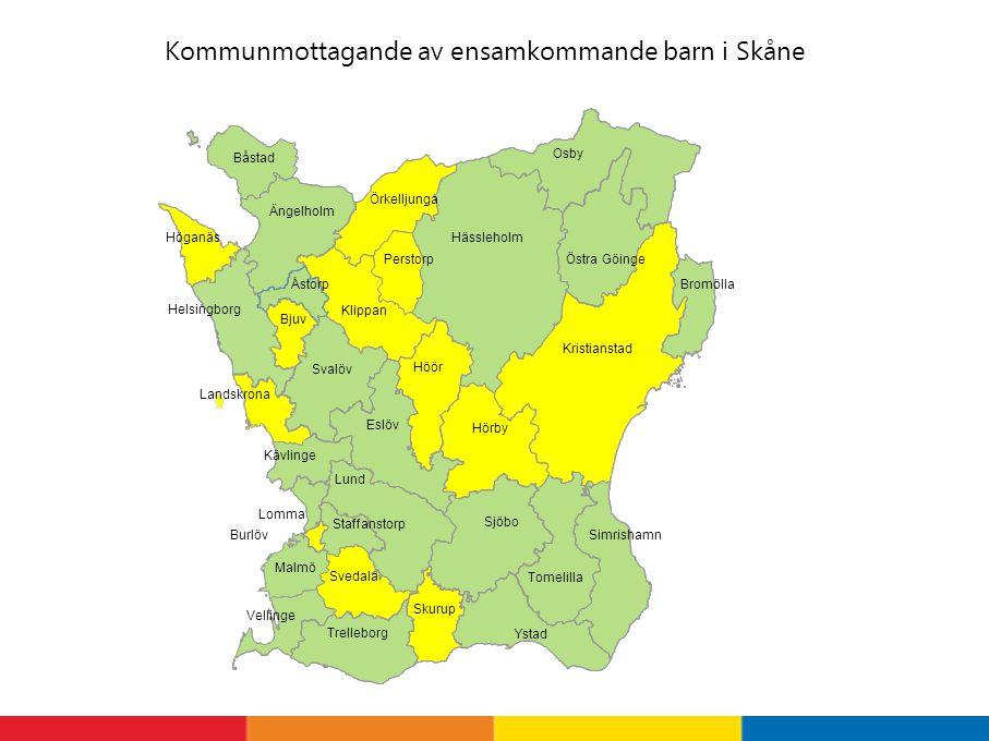 Kommunmottagande av ensamkommande barn i Skåne