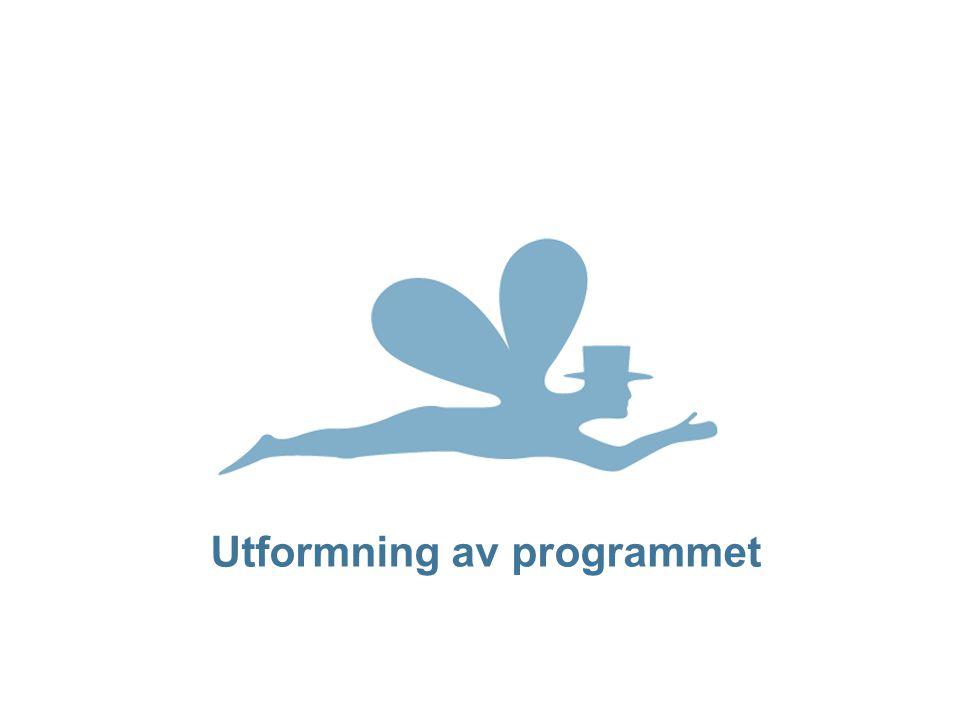 Utformning av programmet