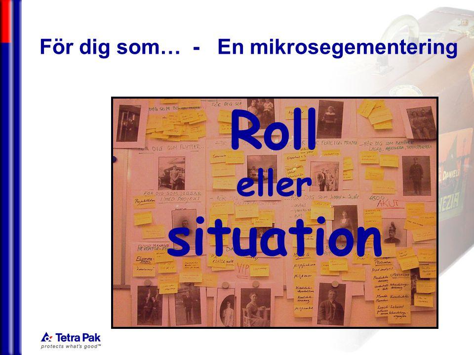 För dig som… - En mikrosegementering Roll eller situation