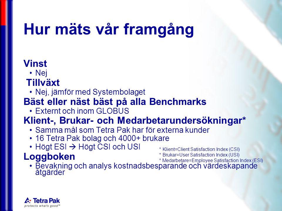 050228/eal TPBuS andel av Servicetjänster Tetra Pak bolag, total kostnad för Servicetjänster Vi arbetar med att öka värdet genom Pitch Kostnadsbesparing för Tetra Pak