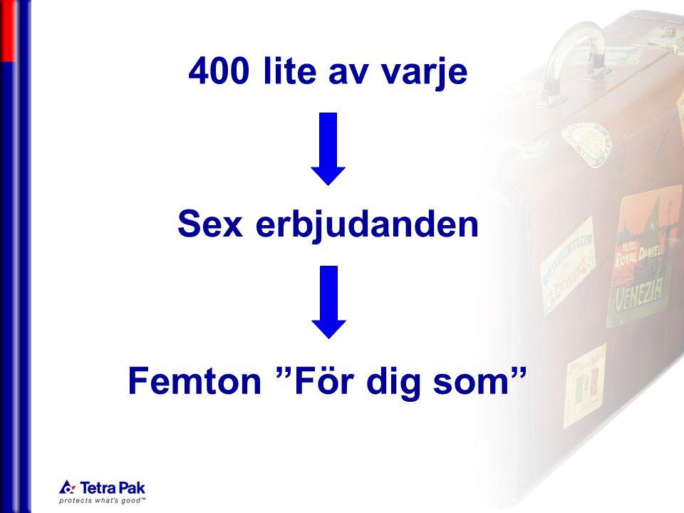 050228/eal 400 lite av varje Sex erbjudanden Femton För dig som
