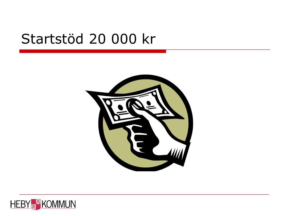 Startstöd 20 000 kr