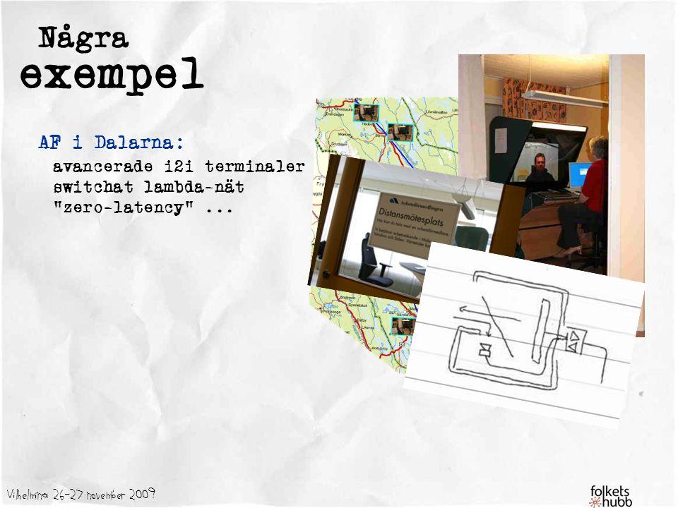 Vilhelmina 26-27 november 2009 Några exempel AF i Dalarna: avancerade i2i terminaler switchat lambda-nät zero-latency ...