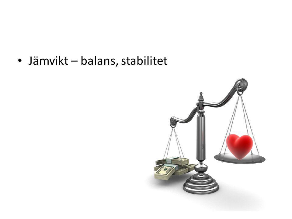 Jämvikt – balans, stabilitet
