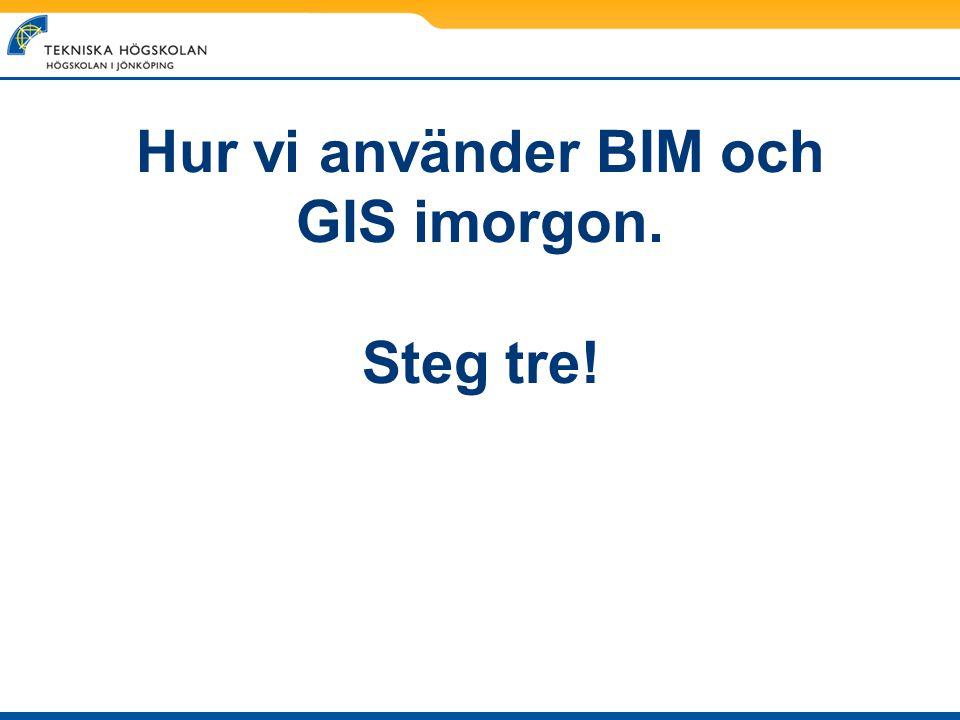 Hur vi använder BIM och GIS imorgon. Steg tre!