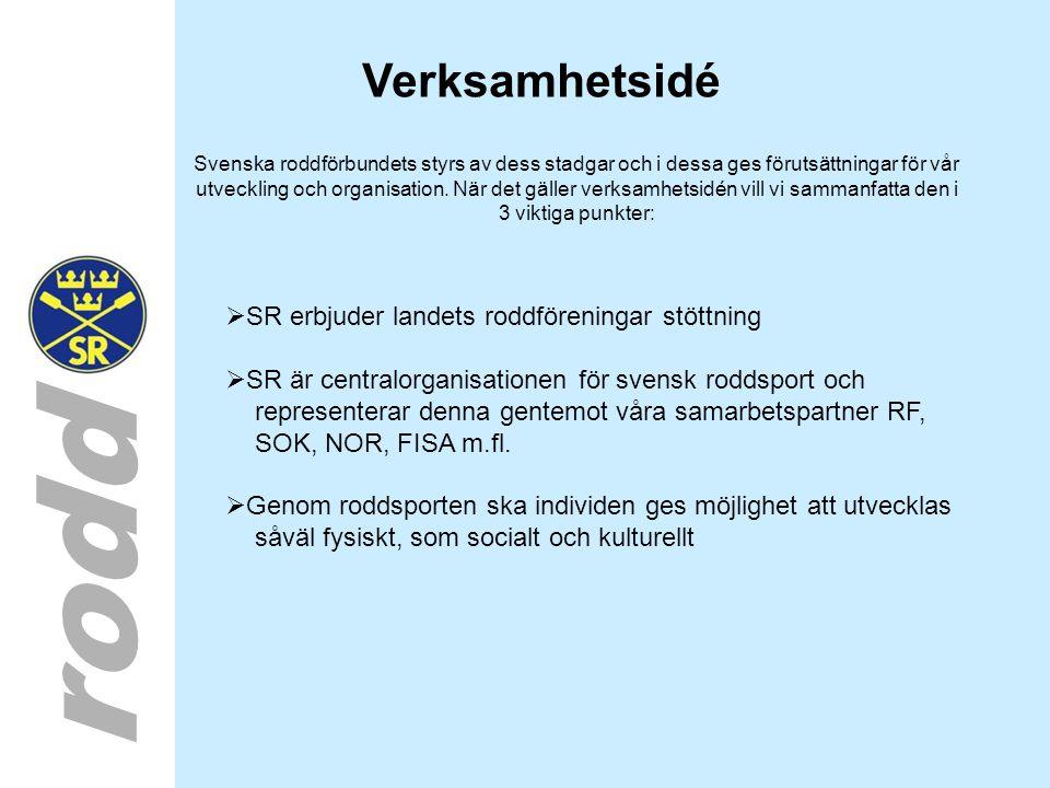 rodd Verksamhetsidé Svenska roddförbundets styrs av dess stadgar och i dessa ges förutsättningar för vår utveckling och organisation. När det gäller v