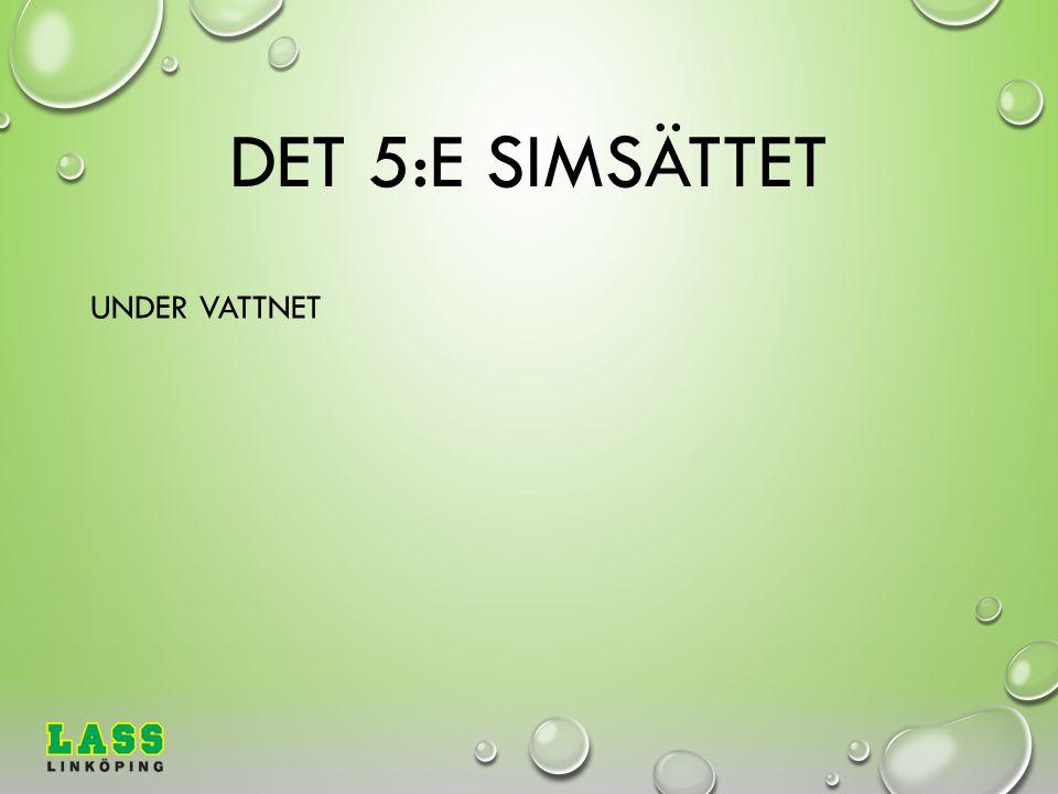 DET 5:E SIMSÄTTET UNDER VATTNET