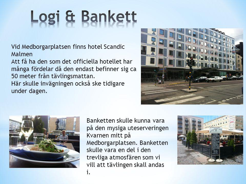 Vid Medborgarplatsen finns hotel Scandic Malmen Att få ha den som det officiella hotellet har många fördelar då den endast befinner sig ca 50 meter från tävlingsmattan.