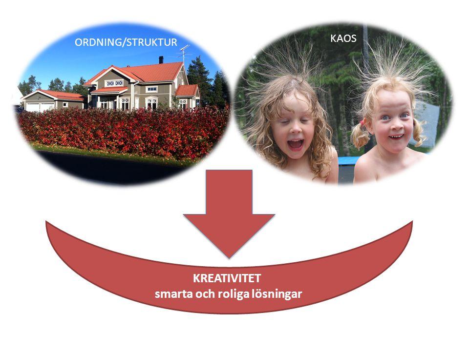 KAOS ORDNING/STRUKTUR KREATIVITET smarta och roliga lösningar