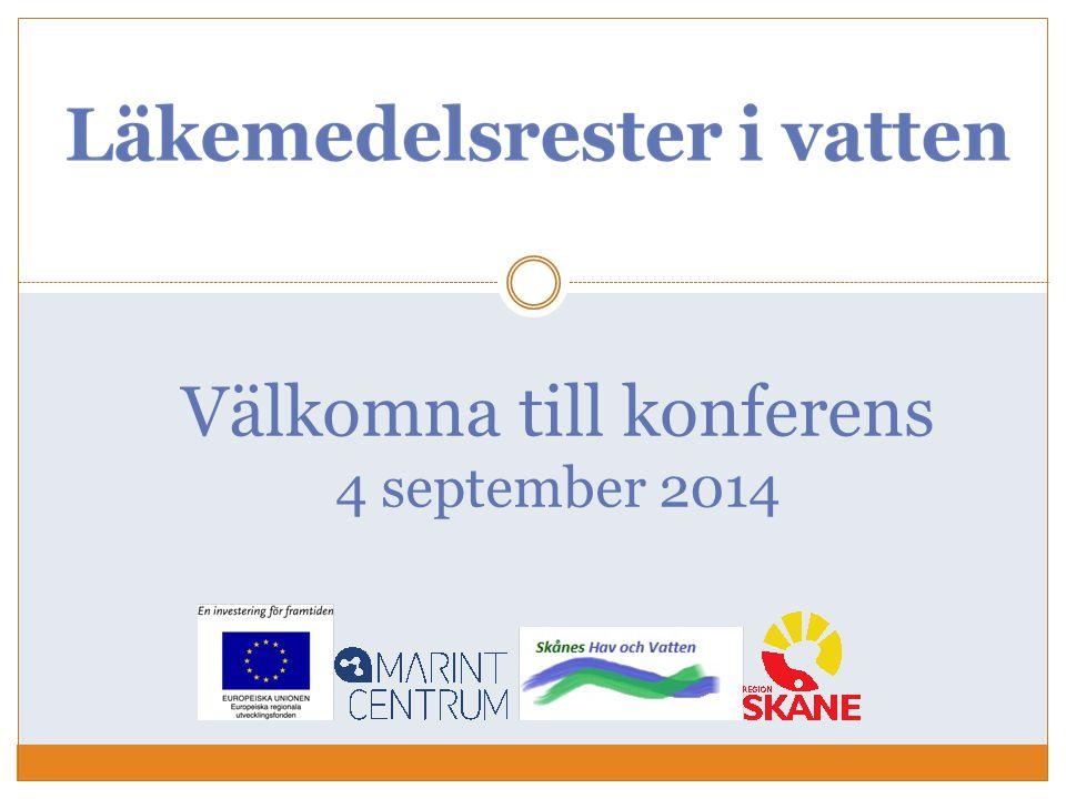 Välkomna till konferens 4 september 2014