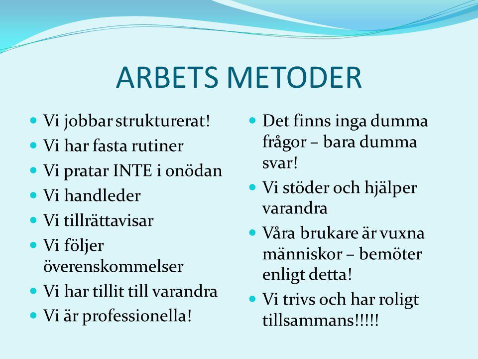 Personalens Styrkor / Svagheter 1.HUMOR. 2. Känner boarna 3.