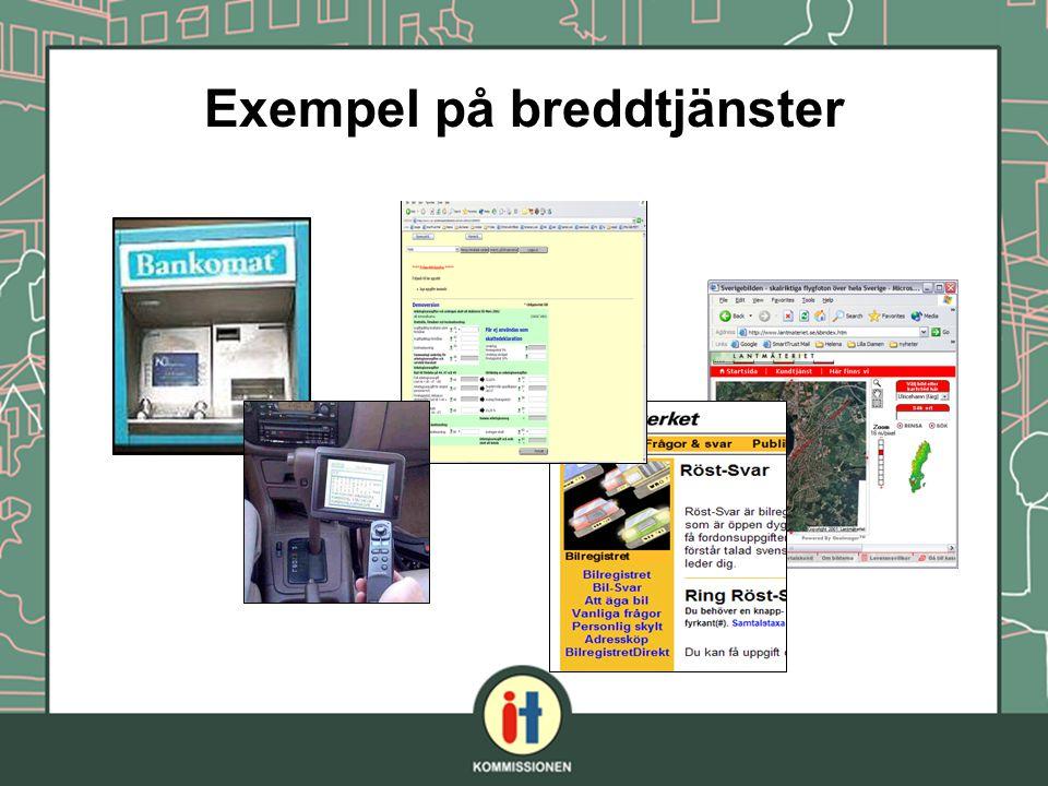 Exempel på breddtjänster