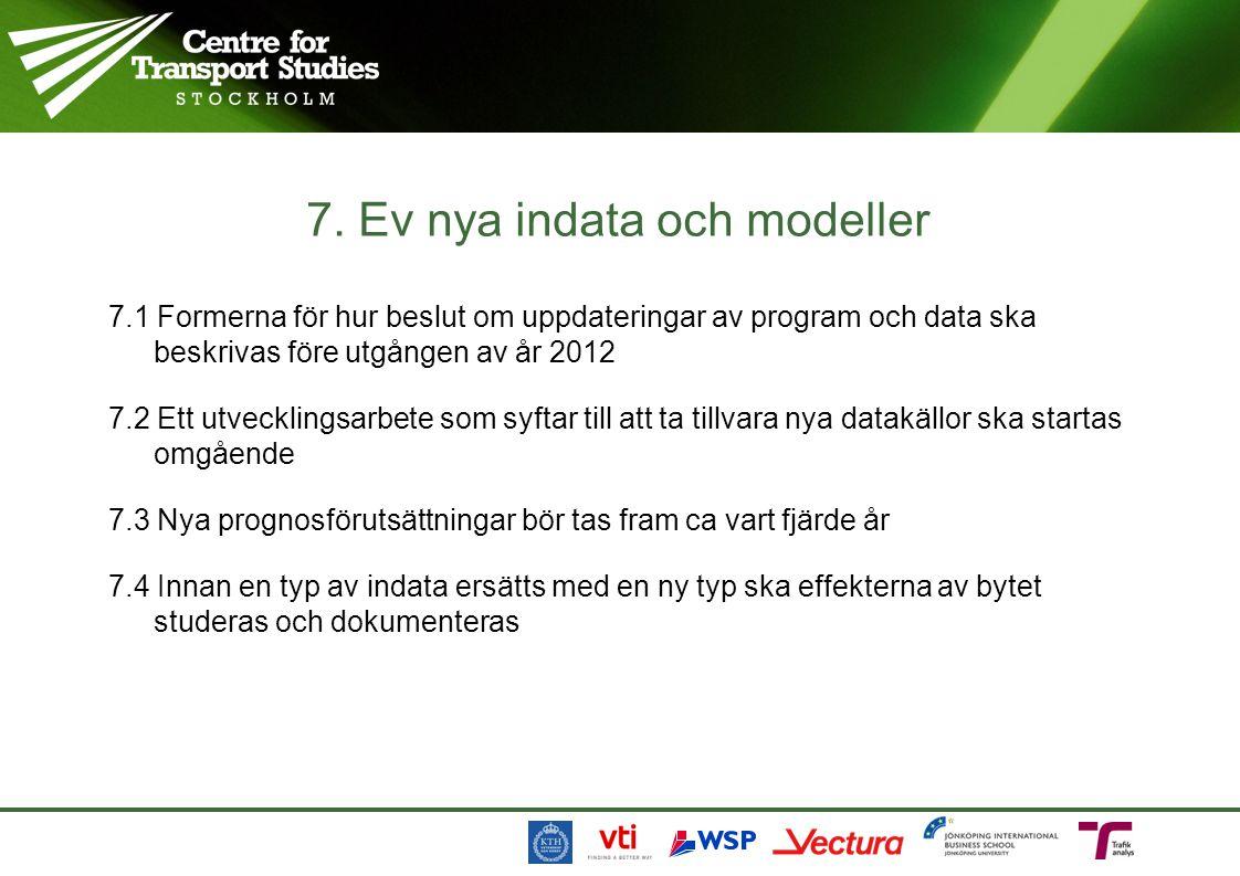 7.1 Formerna för hur beslut om uppdateringar av program och data ska beskrivas före utgången av år 2012 7.2 Ett utvecklingsarbete som syftar till att
