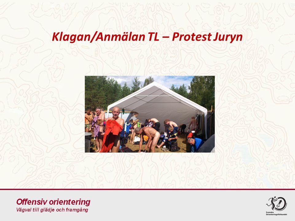 Klagan/Anmälan TL – Protest Juryn