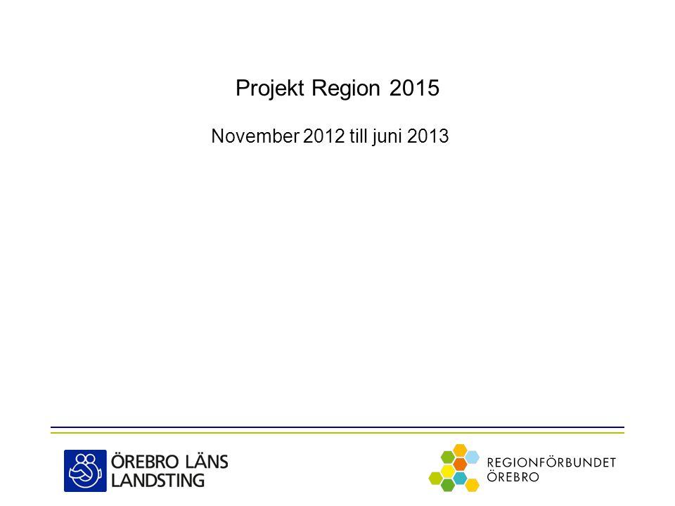 Projekt Region 2015 November 2012 till juni 2013