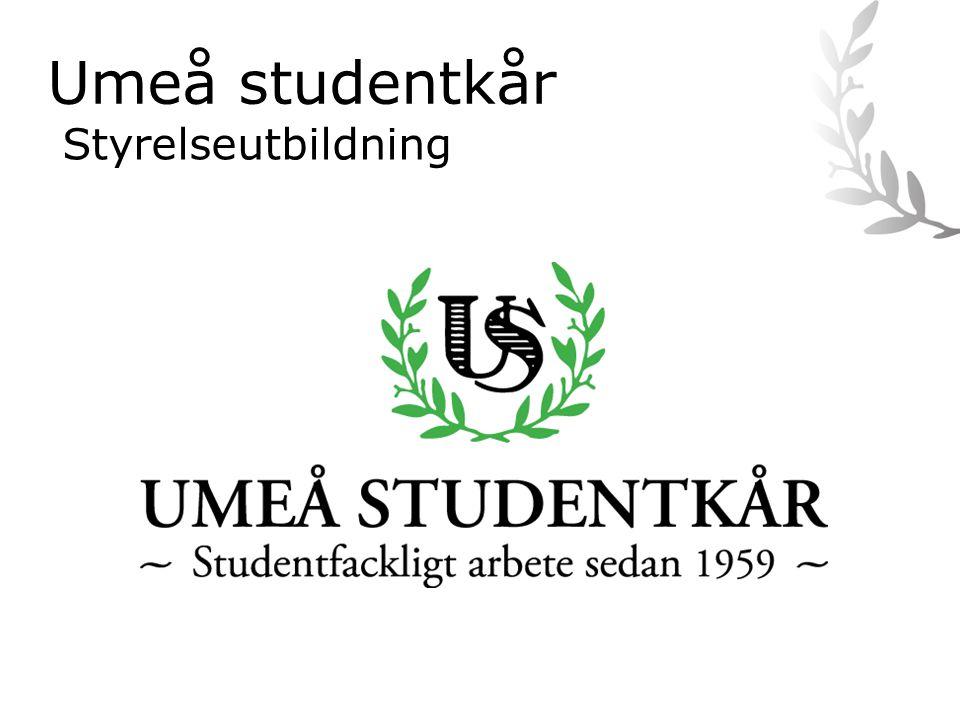 Umeå studentkår Styrelseutbildning