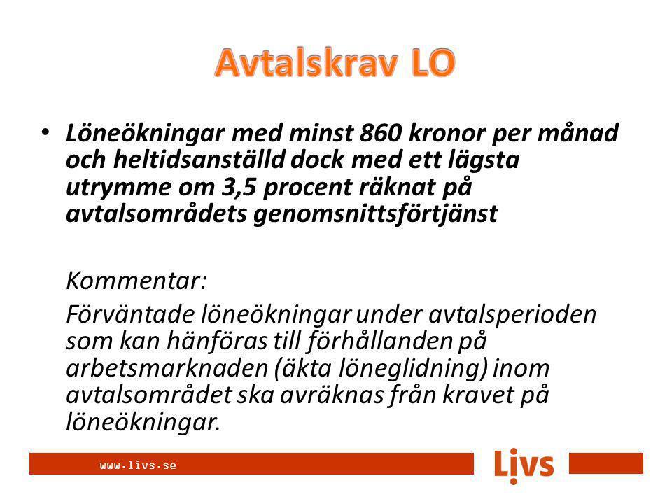 www.livs.se Intjänande av rättigheter Vid beräkning av anställningstid där intjänande krävs för att en förmån eller en rättighet ska gälla ska dessa beräknas utifrån sammanlagd anställningstid och oberoende av anställningsform