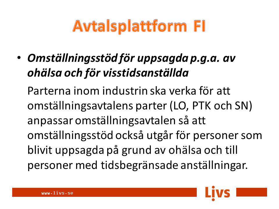 www.livs.se Omställningsstöd för uppsagda p.g.a.