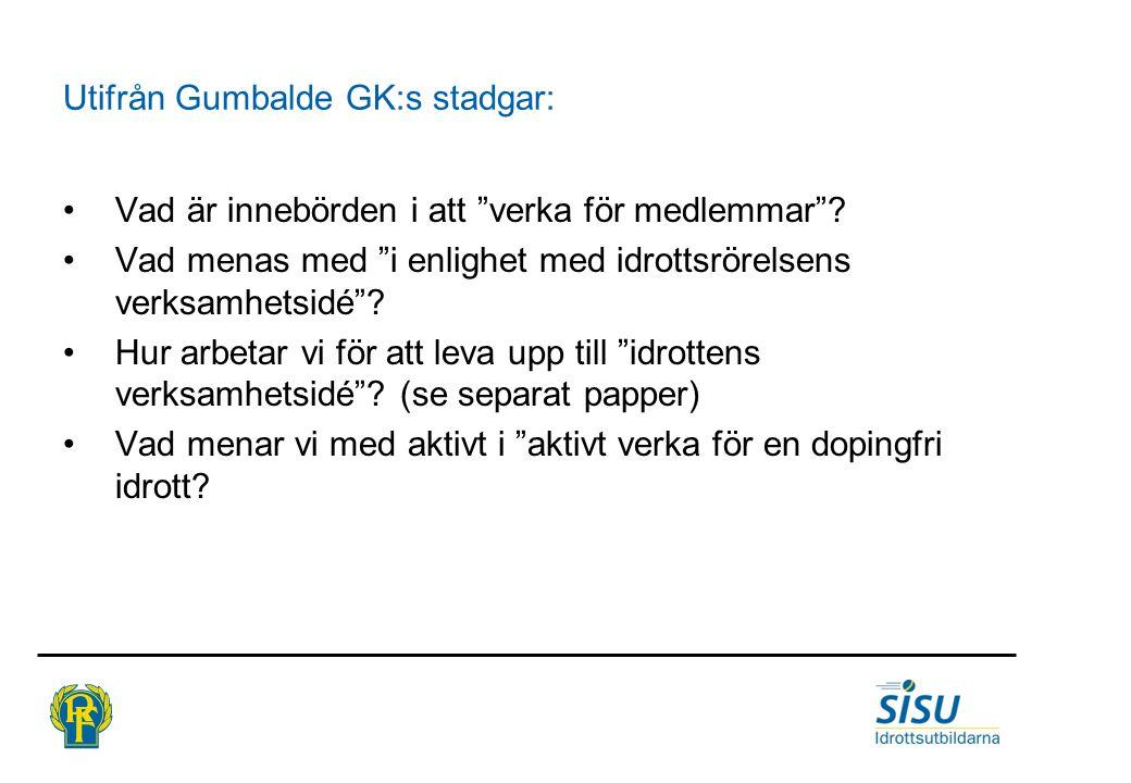 Utifrån Gumbalde GK:s stadgar: Vad är innebörden i att verka för medlemmar .