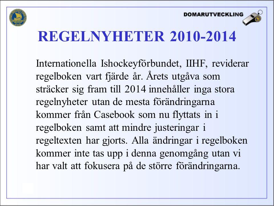 Internationella Ishockeyförbundet, IIHF, reviderar regelboken vart fjärde år.