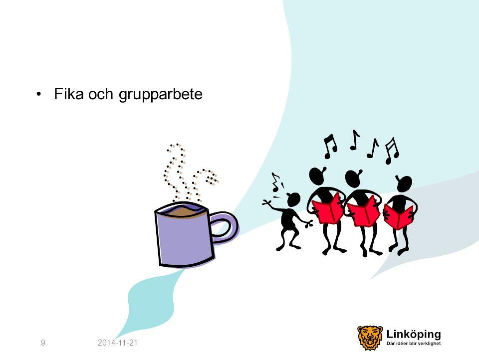 Fika och grupparbete 2014-11-219