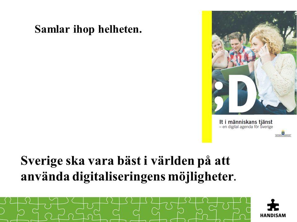 Samlar ihop helheten. Sverige ska vara bäst i världen på att använda digitaliseringens möjligheter.
