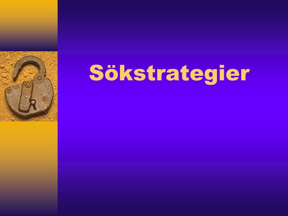 Sökstrategier