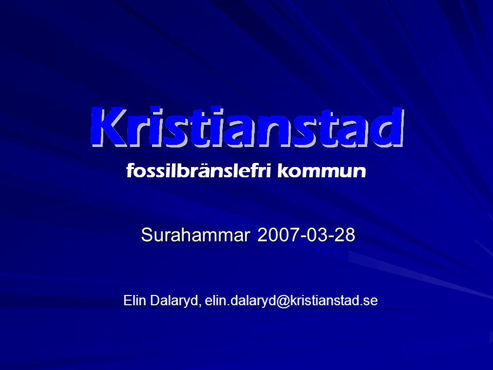 Kristianstad 75 000 invånare Nordöstra Skåne Jordbruksbygd Omfattande livsmedelsindustri Låglänt landskap