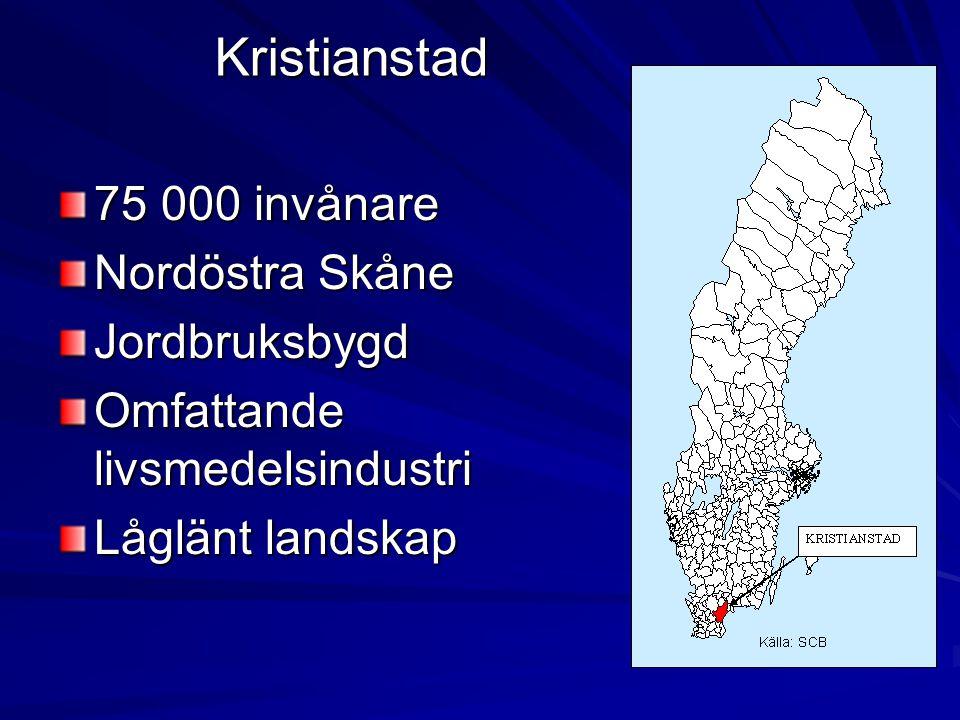 Centrala Kristianstad, Vä, Åhus och Fjälkinge.