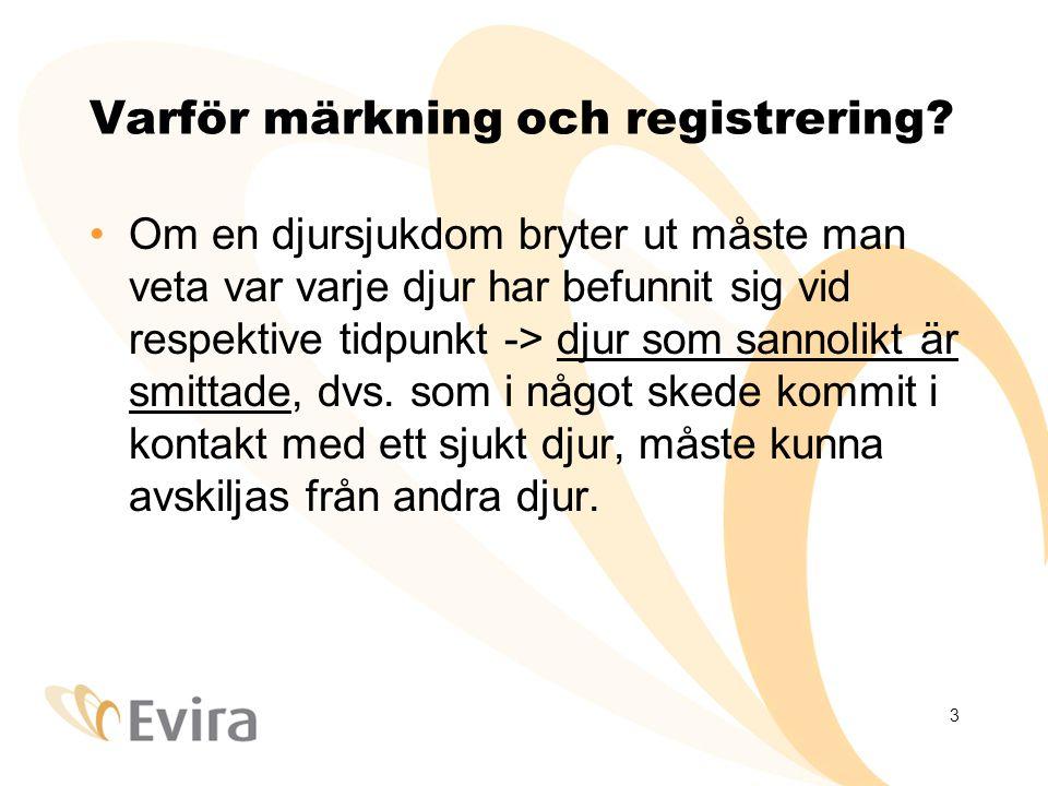 3 Varför märkning och registrering.