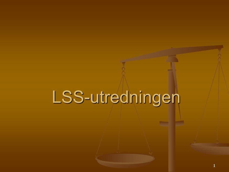 1 LSS-utredningen