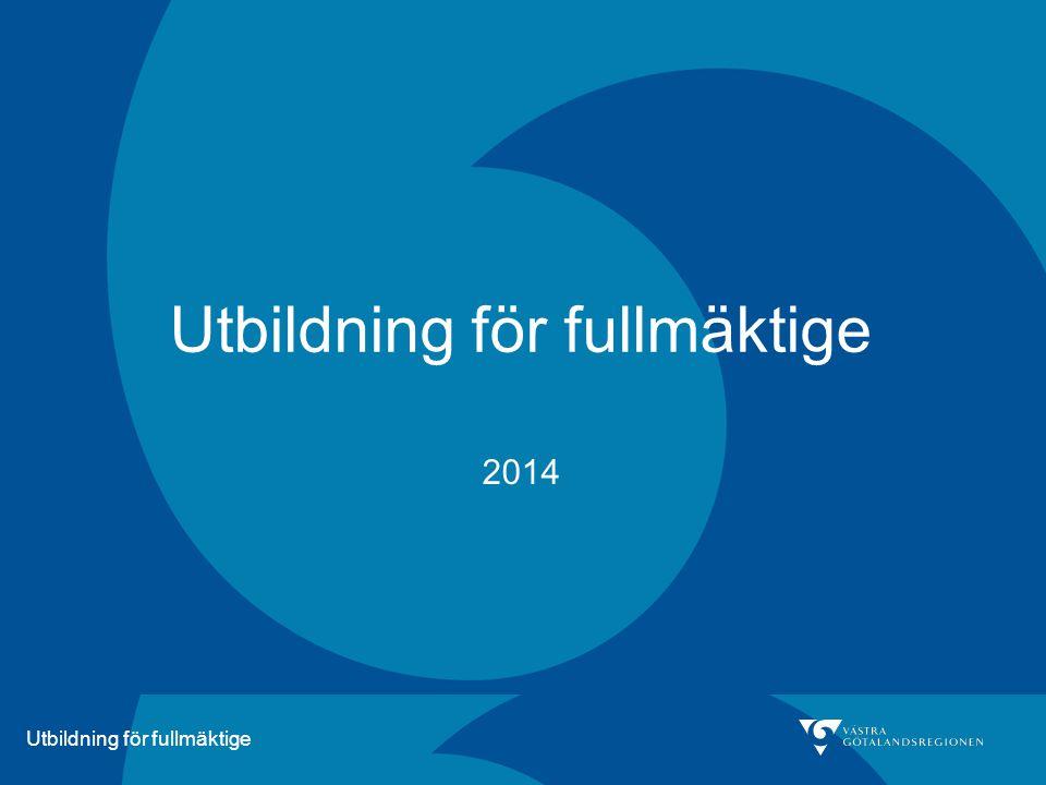 Utbildning för fullmäktige 2014