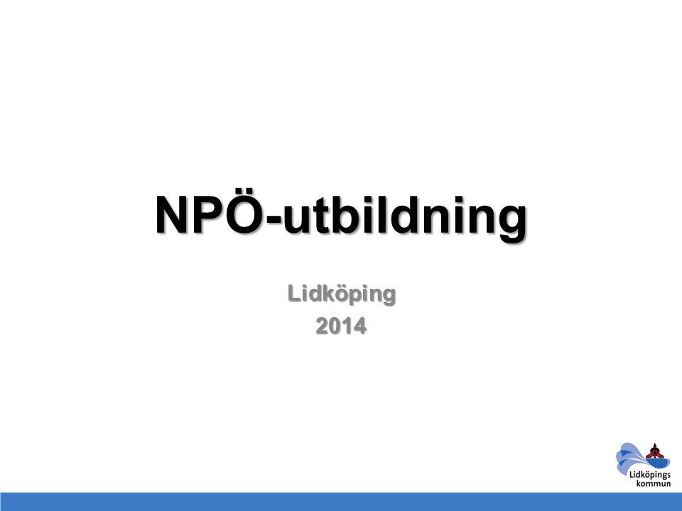 NPÖ-utbildning Lidköping2014