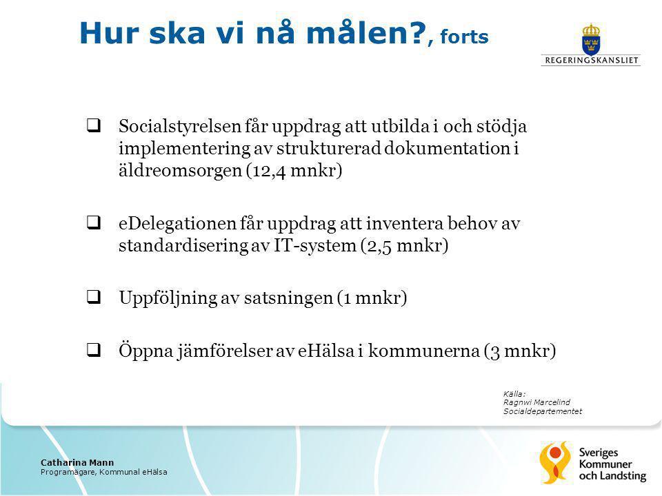  Socialstyrelsen får uppdrag att utbilda i och stödja implementering av strukturerad dokumentation i äldreomsorgen (12,4 mnkr)  eDelegationen får up